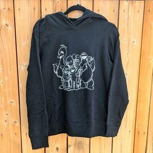 KAWS Uniqlo Sesame Street black hoodie